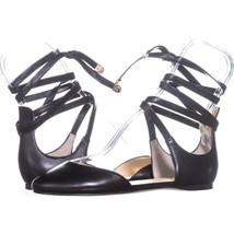 Ivanka Trump Elise Lace Up Ballet Flats 005, Black, 6.5 US - £29.70 GBP