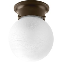 Progress Lighting P3401-20 Glass Globes One-Light Flush Mount Antique Br... - $547,67 MXN