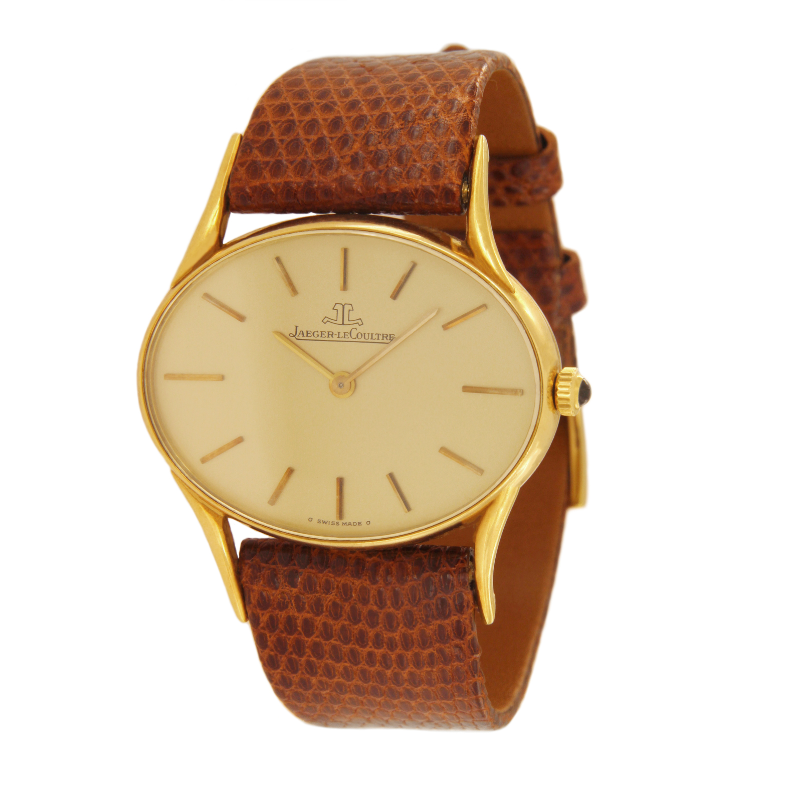 Jaeger LeCoultre Vintage Oval Watch in 18K Gold 4463 21