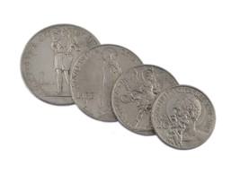 1934 Vatican City 20c to 2L Coin Lot of 4 - $49.50