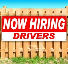 NOW HIRING DRIVERS Advertising Vinyl Banner Flag Sign Many Sizes USA - $14.24+