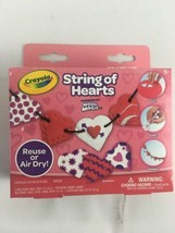 Nib Crayola String Of Hearts Craft Kit Powered By Model Magic For Ages 5+ - $9.50