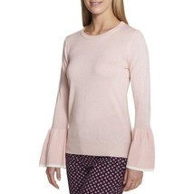Tommy Hilfiger Bell Sleeve Lightweight Pullover Colorblock Pink Sweater XL - $33.00