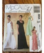 McCalls 3954 Formal Dress Womens Sewing Pattern Sizes 4-10 Dress - $11.99