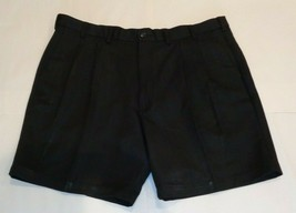 Roundtree & Yorke Size 44 Waist EXPANDER WAISTBAND Black Pleated New Men... - $37.25