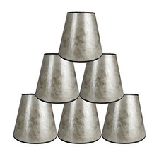 Urbanest Set of 6 3-inch by 5-inch by 4.5-inch Mica Chandelier Shade, Si... - $59.39
