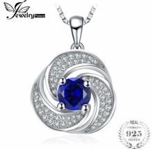LUXURY 1.9ct 925 Sterling Silver Sapphire Pendant Necklace [PEN-252] - $27.72
