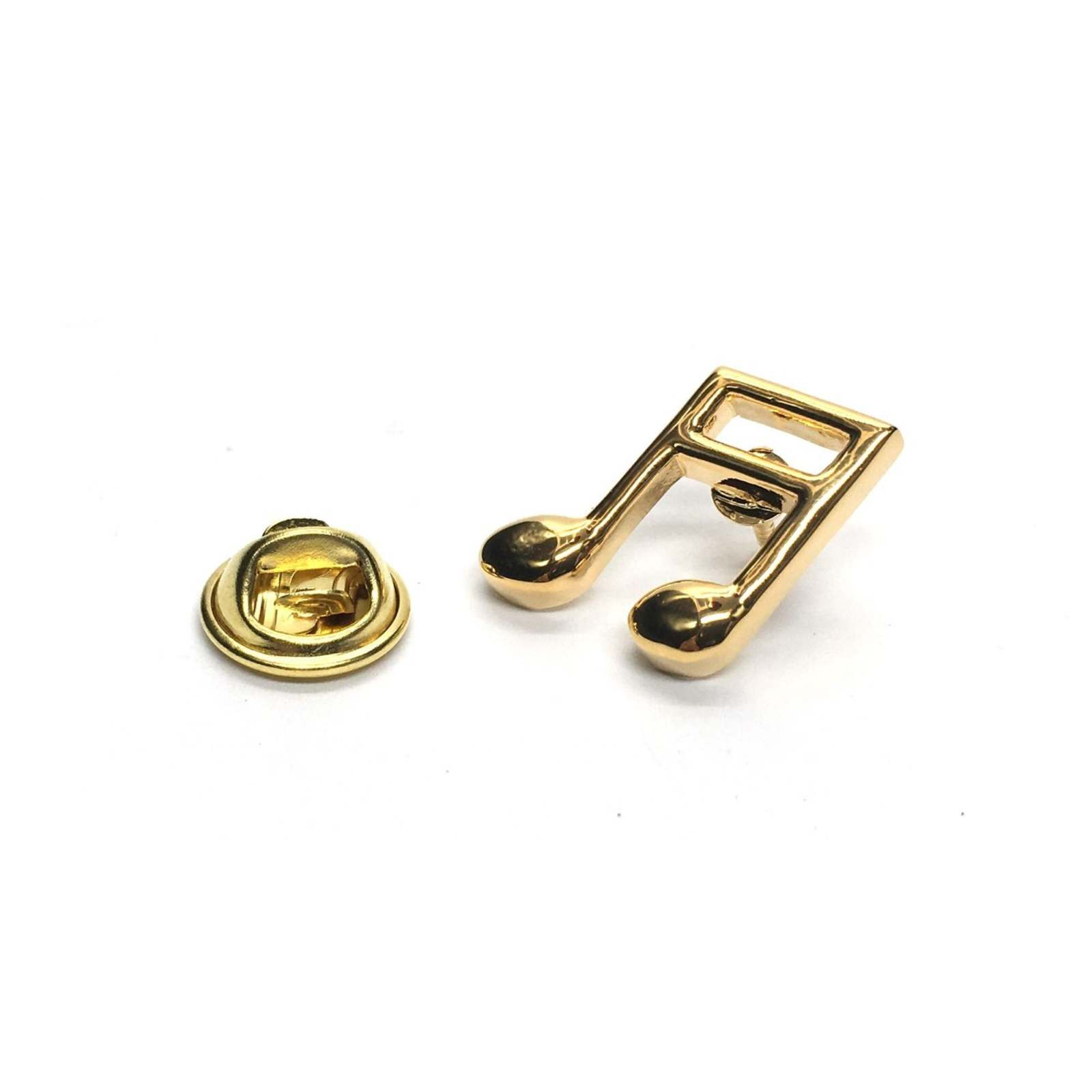 Quaver Music Note Gold  tie pin, Lapel Pin Badge, in gift box detailed design