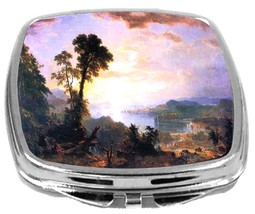 Rikki Knight Asher Brown Durand Art Compact Mirror Headway Design NEW - $12.00
