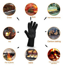 1PC 300-500 Centigrade Heat Resistant Grilling Cooking Gloves Mitts Oven... - $8.99