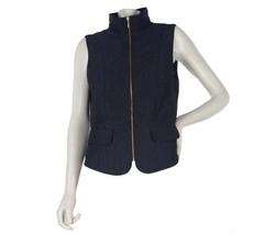 George Simonton Quilted Iridescent Jacquard Vest Pckts Purple XL NEW A21... - $32.65