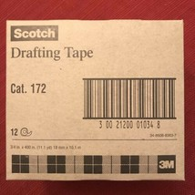 3M Scotch Drafting Tape Category 172 12 Rolls 3/4 in x 400 in Discontinued - €85,92 EUR