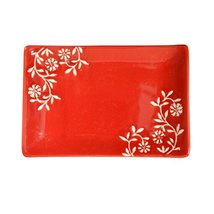 Kylin Express Rectangle Ceramic Dinner Plate Creative Japanese Sushi Plate with  - $25.75