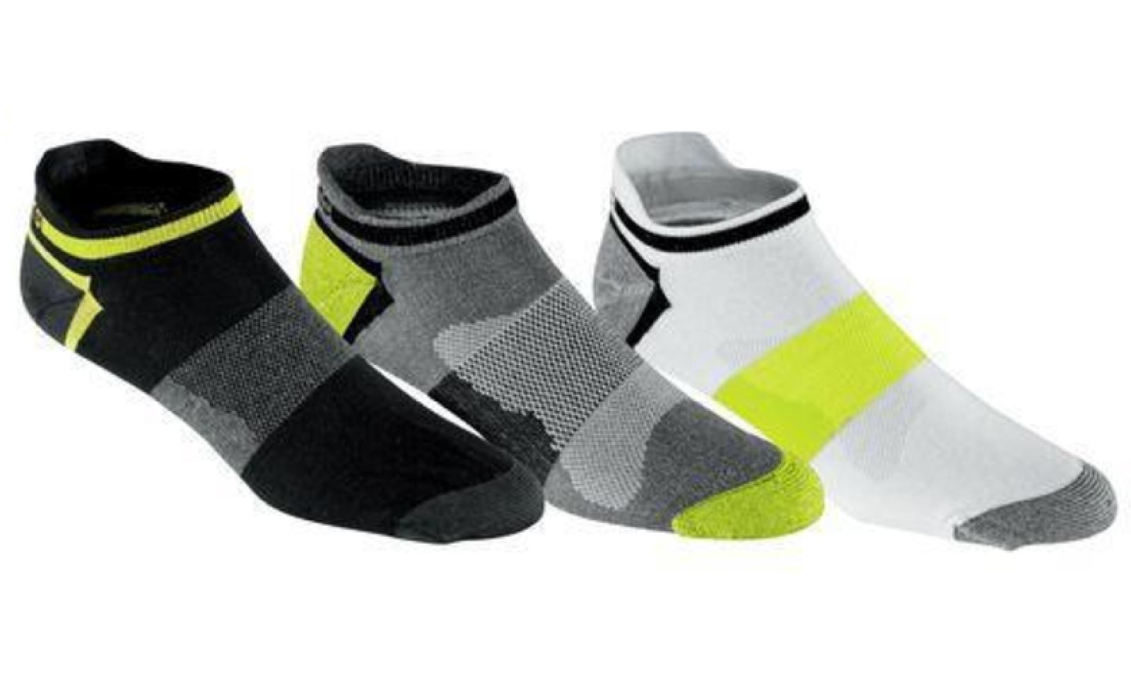 Asics Quick Lyte Low Cut Green 3 Pairs Socks L Large Sz 9.5-11.5 Men/ 10+ Women