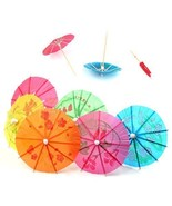 TRIXES Cocktail Drinks Umbrellas - 50 x Colourful Party Pack - Beach Par... - $5.73