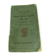Singer Sewing Machine Vintage No 66 Original Operating Booklet 1920 32963 - $29.69