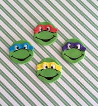 ninja turtles inspired fondant cupcake topper - $35.00