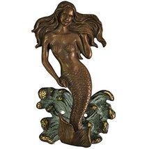Mermaid Door Knocker Made in Brass Metal for Your Door - $48.99
