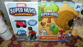 MARVEL SUPER HERO ADVENTURES MEGAMAT 6 TILES SPIDERMAN WITH CAR NEW! - $23.76