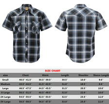 Men's Western Short Sleeve Button Down Casual Plaid Pearl Snap Cowboy Shirt image 2