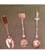 3 Collector Spoons, Centennial Celebration, US Constitution, Statue Of L... - $14.85