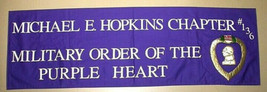 Military Order Of The Purple Heart Large Banner Almost 2' x 6' Regal App... - $20.00