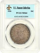 1826 50c PCGS MS64 ex: D.L. Hansen - Bust Half Dollar - Great Type Coin - $3,239.80