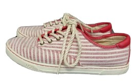 UGG Australia Womens Canvas Sneaker Eyan II Striped White & red size 7 - $33.92 CAD