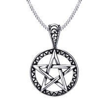 ZORCVENS 2018 Vintage Jewelry Pentagram Pentacle Pagan Wiccan Witch Goth... - $12.55