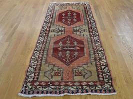 "3'1""x7'6"" Semi Antique Persian Serab Pure Wool Runner HandKnotted Rug G4... - $470.00"