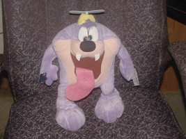 "16"" Warner Bros Dizzy Devil Plush Toy With Tags By Applause 1990 - $59.39"