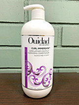 Ouidad Curl Immersion Low-Lather Coconut Cleansing Conditioner 16oz W/ P... - $30.90