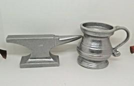 Vintage Wilton Armetale (?) Pewter Aluminum Quaker Amish Anvil +  Pitcher - $8.88