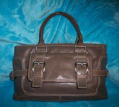 MICHAEL KORS Vintage Dark Olive Army Green Leather Satchel Shoulder Bag - $34.00