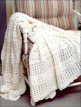 Hand Crochet Summer Lace Afghan - $250.00