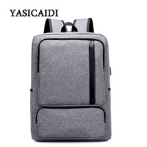 Canvas Men Anti Theft Backpack Bag USB Charge Unisex Laptop Notebook Bac... - $59.72