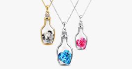 Love Bottle Gemstone Pendant Necklace - $14.99
