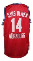 Dirk Nowitzki Wurzburg Germany Basketball Jersey New Sewn Red Any Size image 2