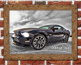 Classic Car Ford Mustang Framed Art Picture Poster Print Sport Car Poste... - $30.00