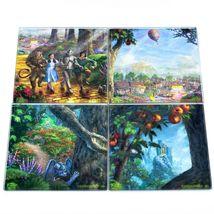 Thomas Kinkade The Wizard of Oz Prints 4 Piece Fused Glass Coaster Set w Holder image 6