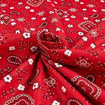 Richland Textiles Bandana Prints Red Fabric by The Yard image 3