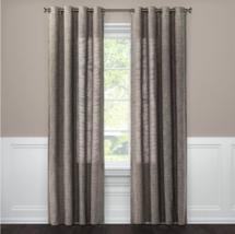 "Threshold 84"" x 54"" Textured Weave Light Filtering Curtain Panel, Gray (... - $32.39"