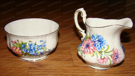 Flower Festival Creamer & Sugar Dish  (Paragon) Fine Bone China, England - $28.22