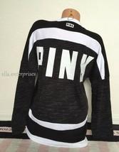 Victoria's Secret Pink Black Marl White Colorblock Lace Up Varsity Crew ... - $69.99