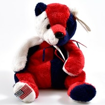 2000 2001 TY Beanie Baby Patriot Red White Blue Teddy Bear Right Foot Flag - $4.99