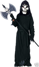 Scary Skeleton Halloween Costume Size Small 4-6 Unisex - $14.79