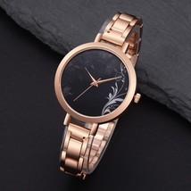 Lvpai® Rose Gold Flowers Women Fashion Luxury Watch Black Stainless Stee... - $7.99