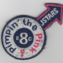 """4"""" Usaf Air Force Jstars 7EACCS Pimpin The Pink Crew 8 Embroidered Jacket Patch - $18.99"""