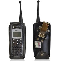 Turtleback Fitted Case Made for Motorola DTR 650 Phone Black Leather Rot... - $56.99