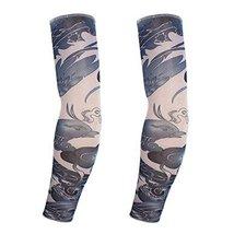 PANDA SUPERSTORE 1-Pair Phoenix Tattoo Sun Sleeves Body Art Fingerless Arm Stock